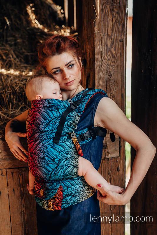 Nosidełko LennyUpGrade  z tkaniny żakardowej 100% bawełna , rozmiar standard - WOLNY DUCH - DEDAL #babywearing