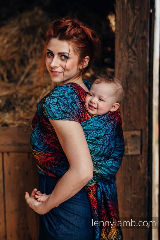 Fular, tejido jacquard (100% algodón) - WILD SOUL - DAEDALUS - talla S #babywearing