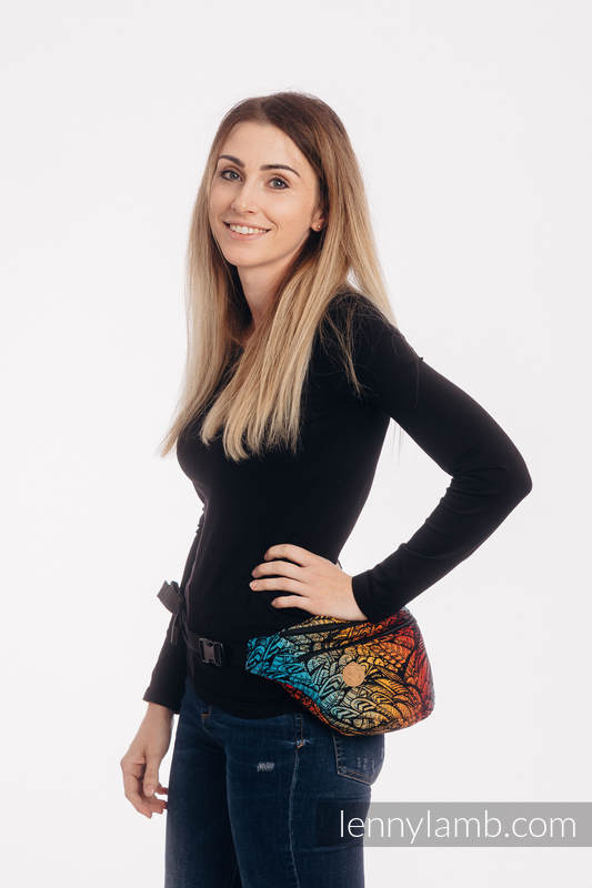 Waist Bag made of woven fabric, size large (100% cotton) - WILD SOUL - DAEDALUS #babywearing