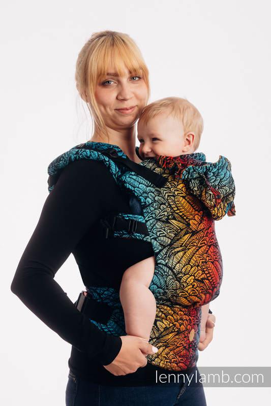 LennyGo Mochila ergonómica, talla bebé, jacquard 100% algodón - WILD SOUL - DAEDALUS #babywearing