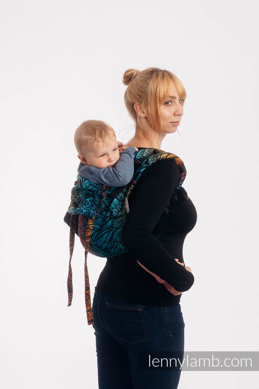 Lenny Buckle Onbuhimo baby carrier, toddler size, jacquard weave (100% cotton) - WILD SOUL - DAEDALUS #babywearing