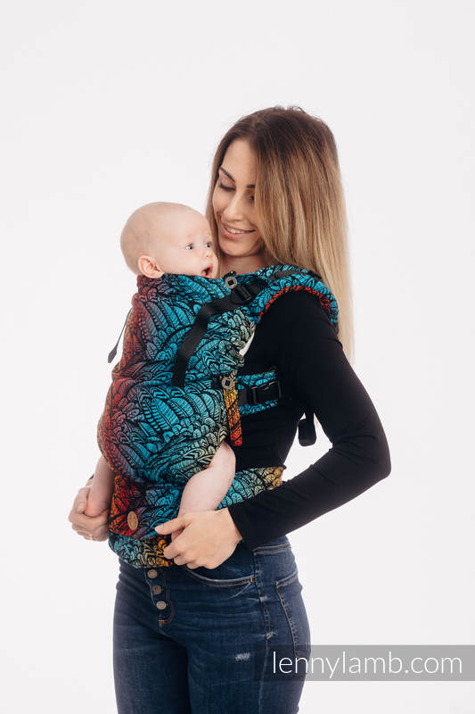 LennyUpGrade Carrier, Standard Size, jacquard weave 100% cotton - WILD SOUL - DAEDALUS #babywearing