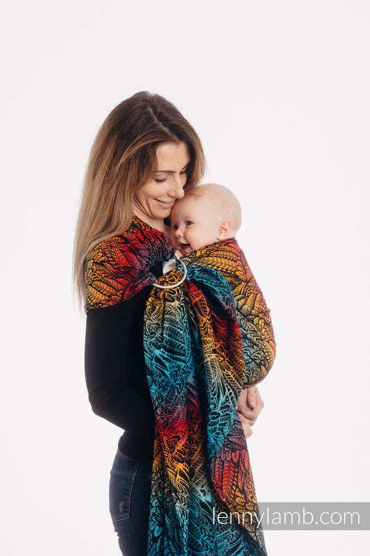Ringsling, Jacquard Weave (100% cotton) - with gathered shoulder - WILD SOUL - DAEDALUS - long 2.1m #babywearing
