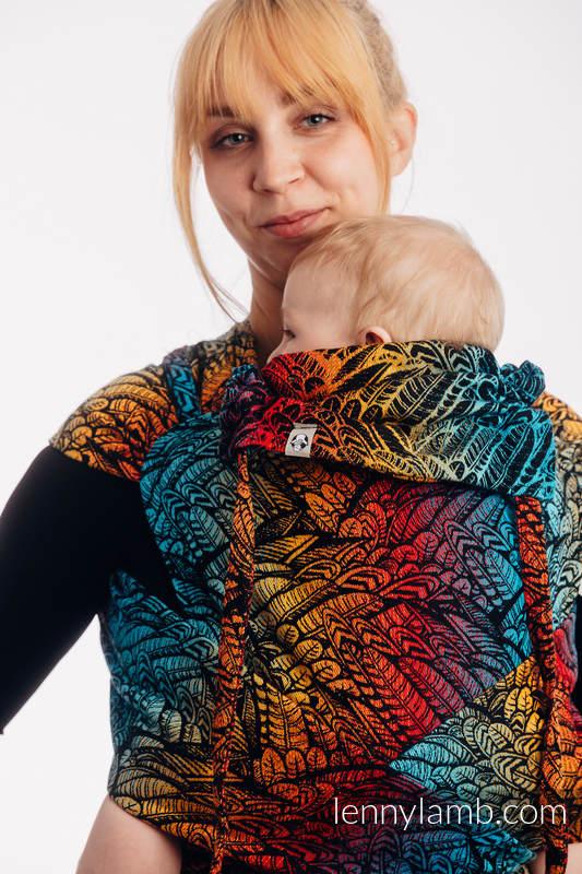 WRAP-TAI carrier Mini with hood/ jacquard twill / 100% cotton / WILD SOUL - DAEDALUS #babywearing