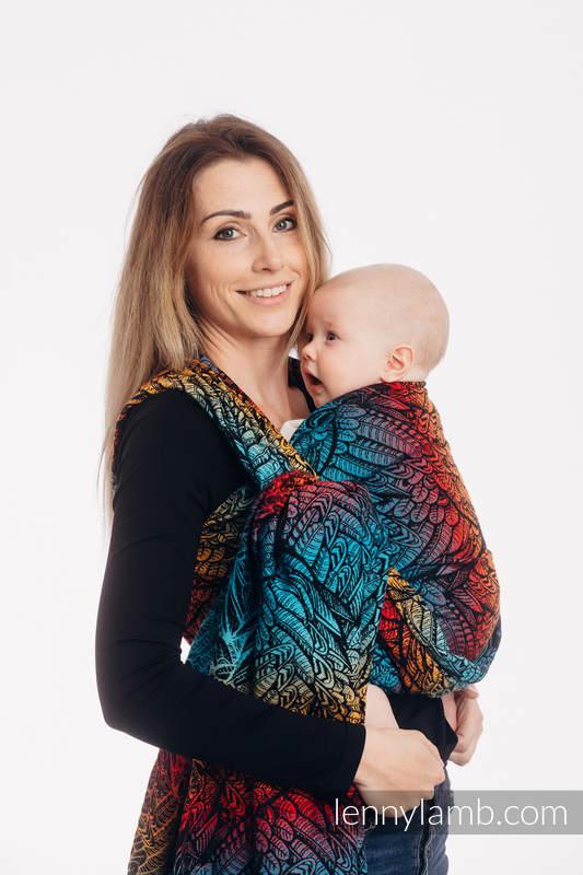 Żakardowa chusta do noszenia dzieci, 100% bawełna - WOLNY DUCH - DEDAL - rozmiar XS #babywearing