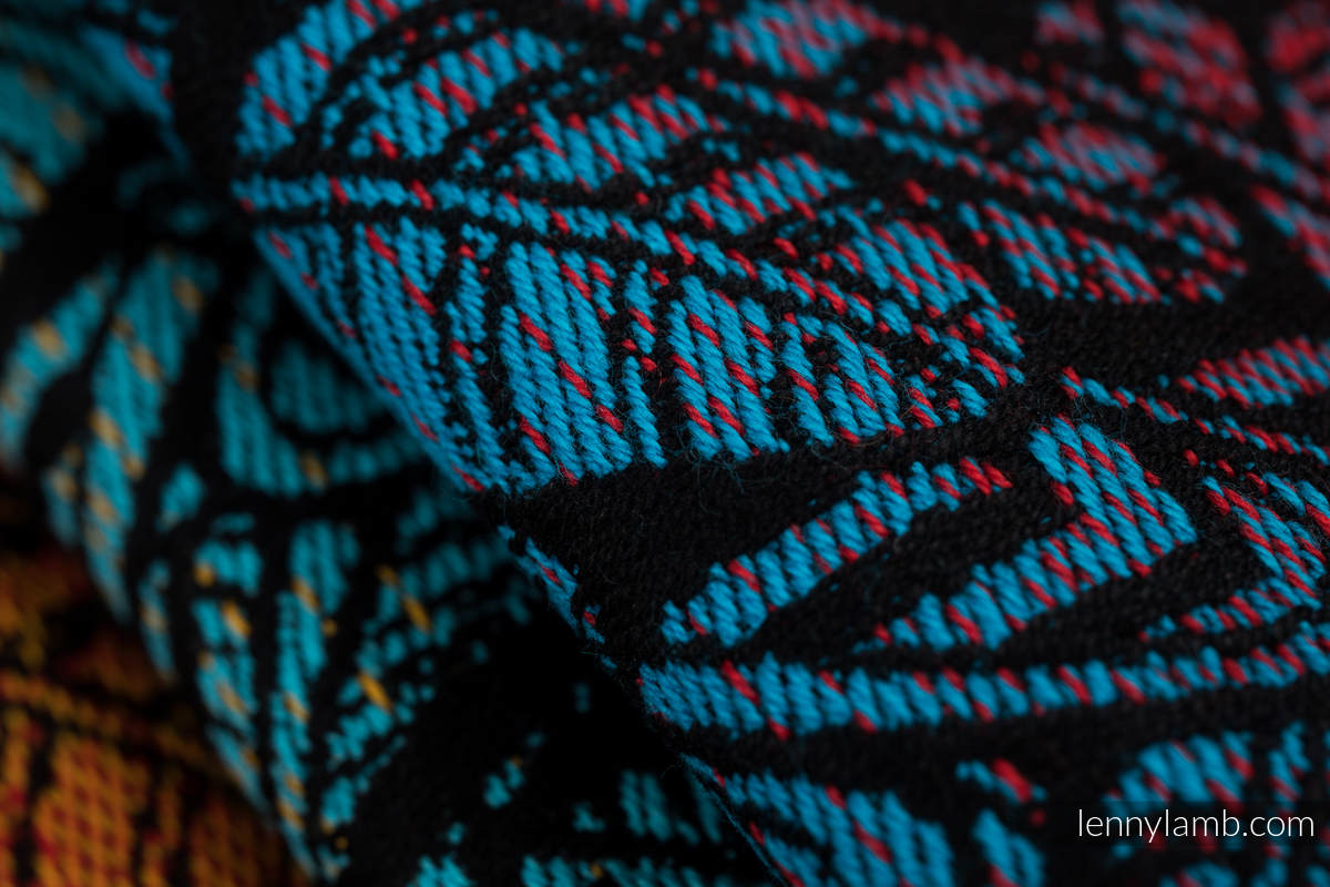 Żakardowa chusta do noszenia dzieci, 100% bawełna - WOLNY DUCH - DEDAL - rozmiar S #babywearing