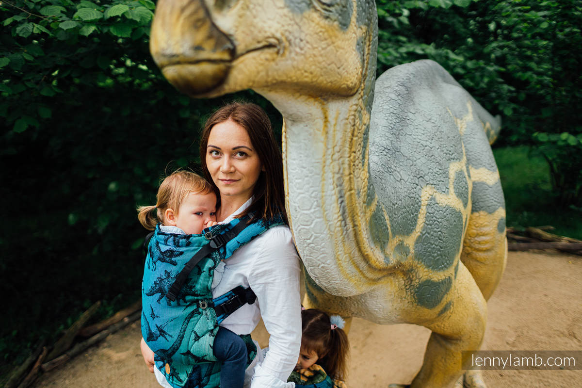 LennyUpGrade Carrier, Standard Size, jacquard weave 100% cotton - JURASSIC PARK #babywearing