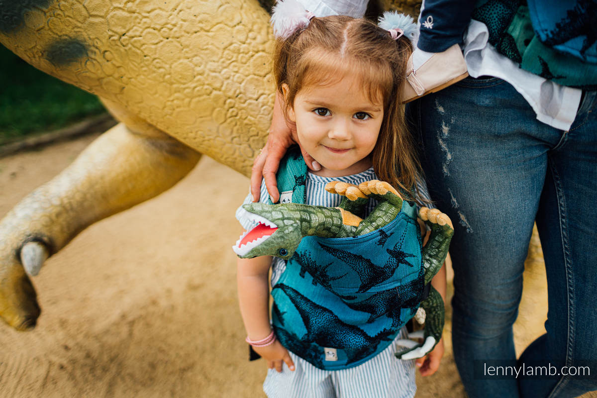 Doll Carrier made of woven fabric, 100% cotton - JURASSIC PARK #babywearing