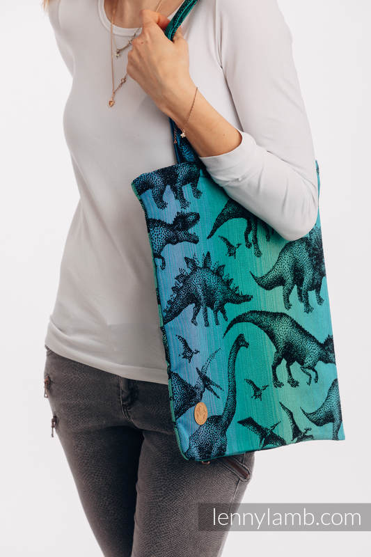 Shopping bag made of wrap fabric (100% cotton) - JURASSIC PARK #babywearing