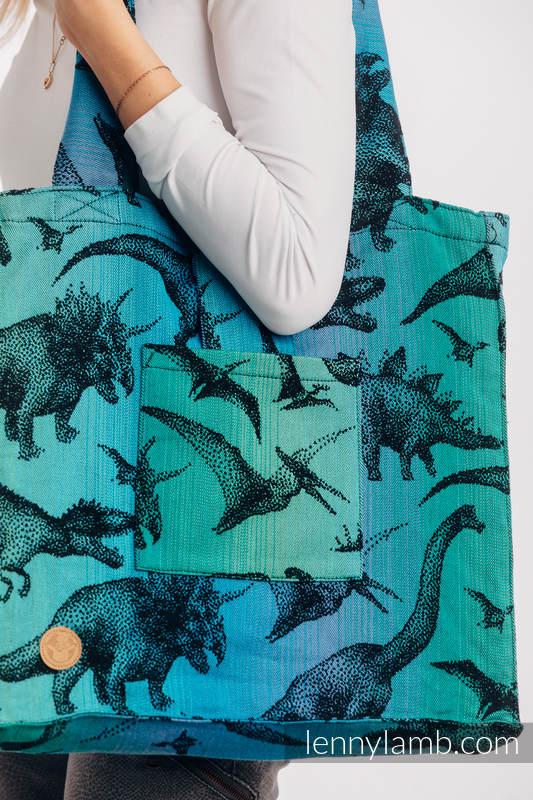 Bolso hecho de tejido de fular (100% algodón) - JURASSIC PARK - talla estándar 37 cm x 37 cm #babywearing