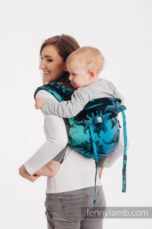 Lenny Buckle Onbuhimo baby carrier, standard size, jacquard weave (100% cotton) - JURASSIC PARK #babywearing