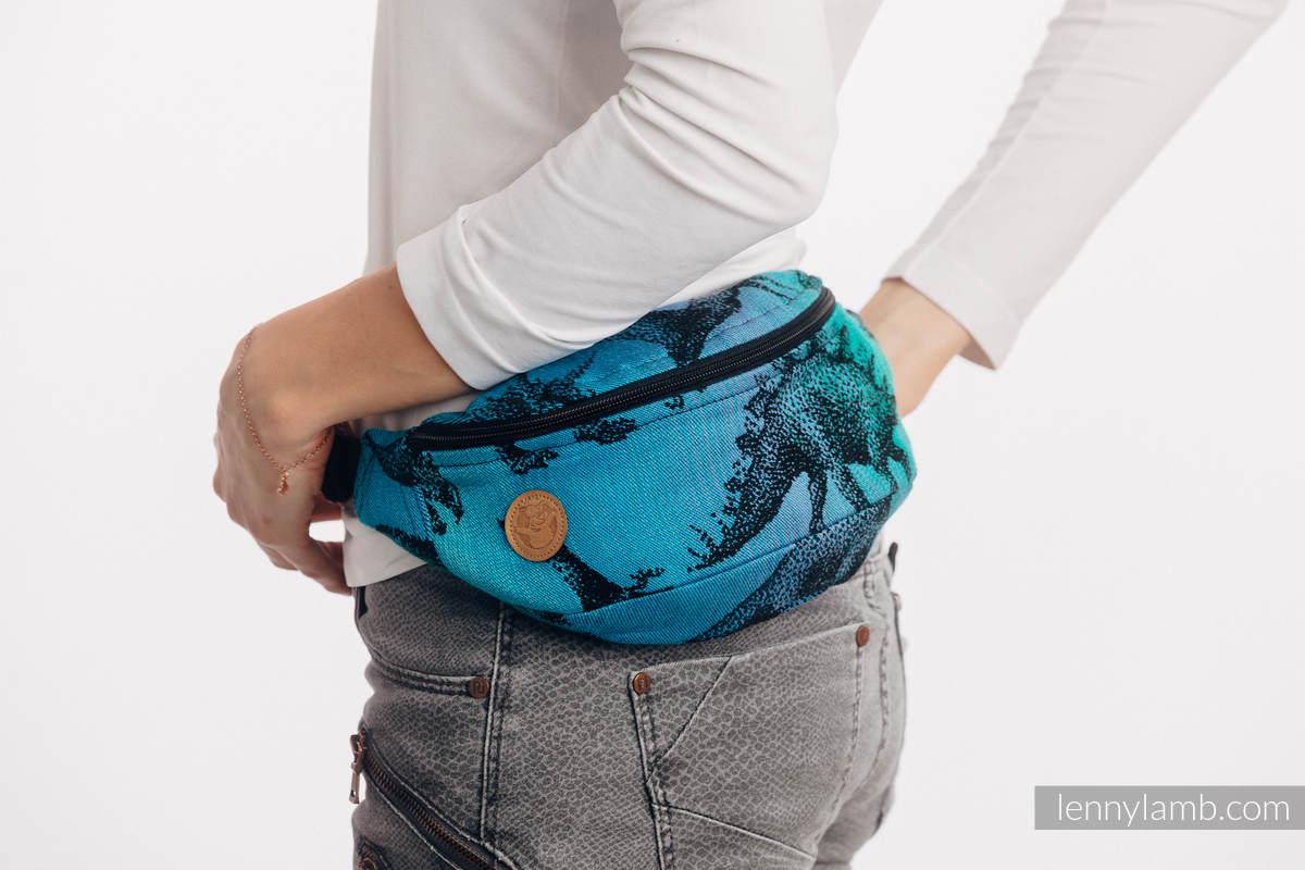Riñonera hecha de tejido de fular (100% algodón) - JURASSIC PARK #babywearing