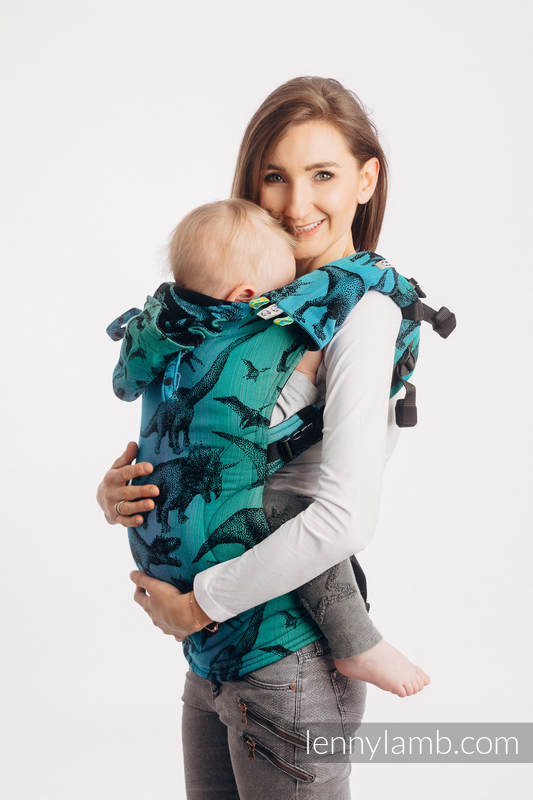 Drool Pads & Reach Straps Set, (60% cotton, 40% polyester) - JURASSIC PARK #babywearing