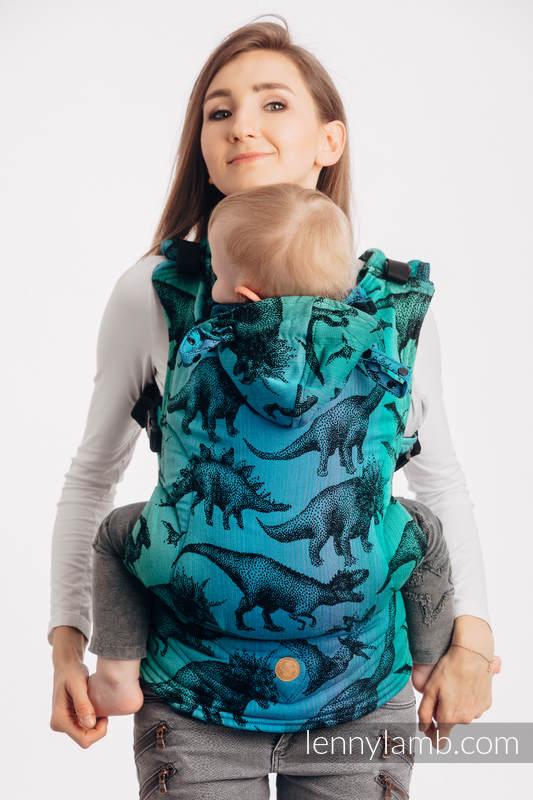 LennyGo Ergonomic Carrier, Baby Size, jacquard weave 100% cotton - JURASSIC PARK #babywearing