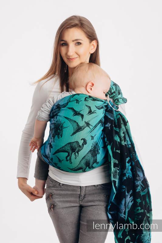 Bandolera de anillas, tejido Jacquard (100% algodón) - JURASSIC PARK - standard 1.8m #babywearing