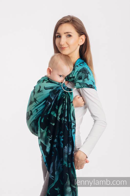 RingSling, Jacquardwebung (100% Baumwolle), Raffung an den Ringen - JURASSIC PARK - standard 1.8m #babywearing