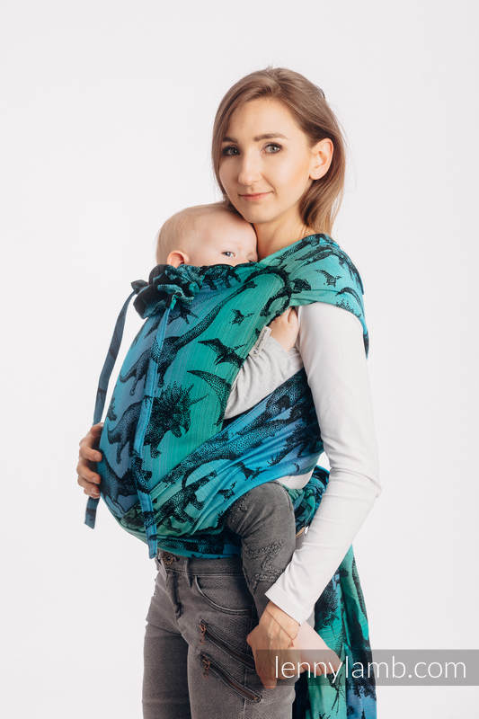 WRAP-TAI carrier Mini with hood/ jacquard twill / 100% cotton - JURASSIC PARK #babywearing