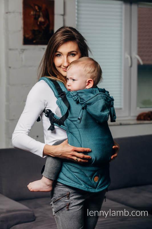 LennyGo Mochila Ergonómica Línea Básica- AMAZONITE, Talla Toddler, tejido de espiga 100% algodón #babywearing