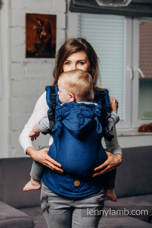 LennyGo Basic Line Ergonomic Carrier - COBALT, Toddler Size, herringbone weave 100% cotton  #babywearing