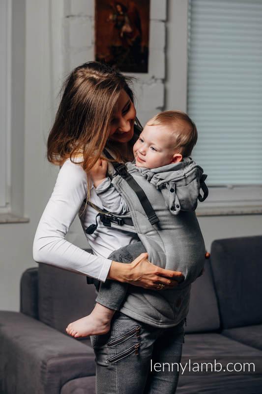 LennyGo Mochila Ergonómica Línea Básica- CALCITE, Talla Toddler, tejido satinado 100% algodón #babywearing