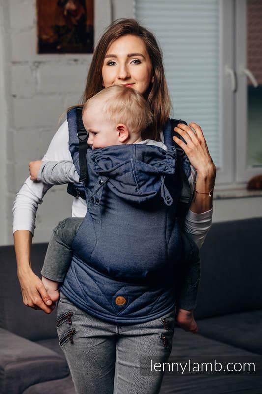 LennyGo Mochila Ergonómica Línea Básica- JEANS, Talla bebé, tejido satinado 100% algodón  #babywearing