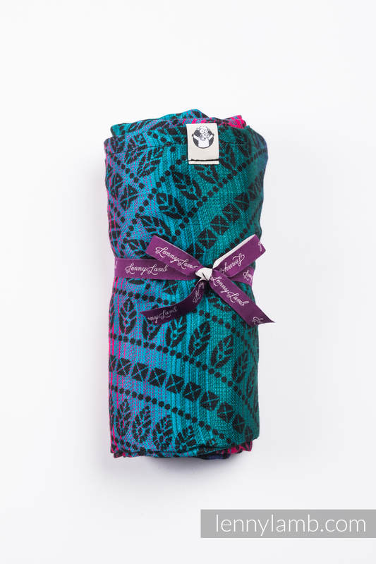 Swaddle Wrap - PEACOCK'S TAIL - BLACK OPAL  #babywearing