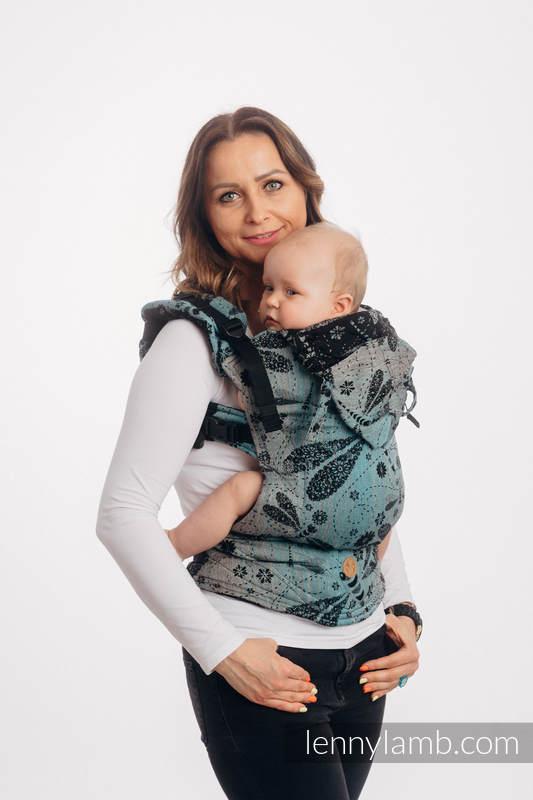 LennyGo Mochila ergonómica, talla toddler, jacquard (60% algodón, 28% lino, 12% seda tusor) - DRAGONFLY - TWO ELEMENTS #babywearing