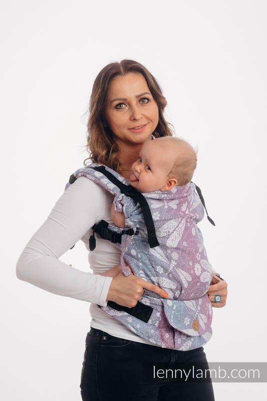 LennyUpGrade Carrier, Standard Size, jacquard weave, 60% cotton, 40% linen - DRAGONFLY LAVENDER #babywearing