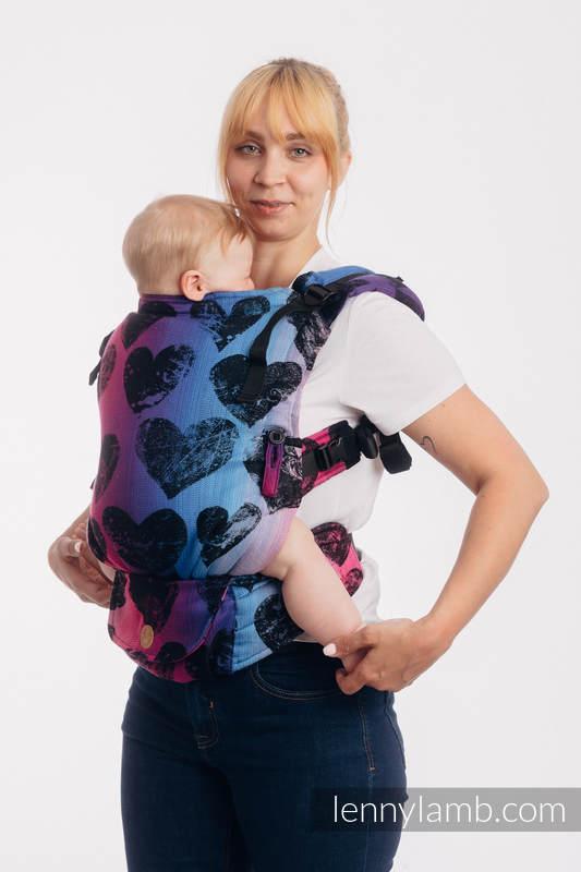 Mochila LennyUpGrade, talla estándar, tejido jaqurad 100% algodón - LOVKA PINKY VIOLET #babywearing