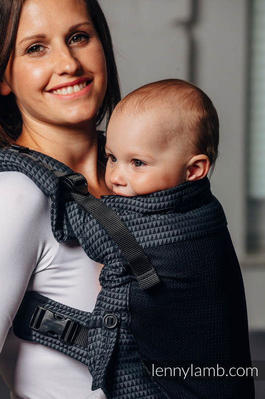 LennyUpGrade Mesh Carrier, Standard Size, tessera weave (75% cotton, 25% polyester) - BASIC LINE GALAXITE #babywearing