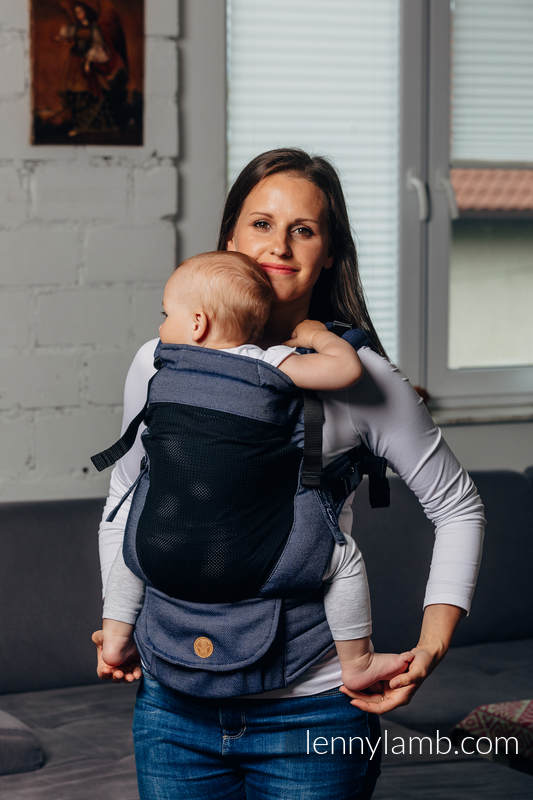 LennyUpGrade Mesh Carrier, Standard Size, satin weave (75% cotton, 25% polyester) - BASIC LINE JEANS #babywearing