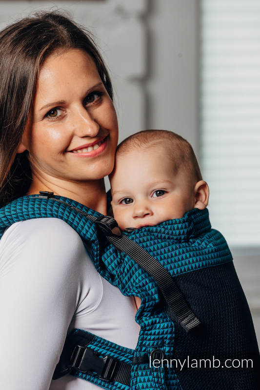LennyUpGrade Mesh Carrier, Standard Size, tessera weave (75% cotton, 25% polyester) - BASIC LINE TANZANITE #babywearing