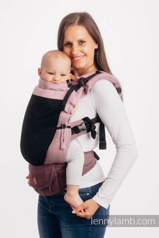 LennyUpGrade Mesh Carrier, Standard Size, herringbone weave (75% cotton, 25% polyester) - LITTLE HERRINGBONE OMBRE PINK #babywearing