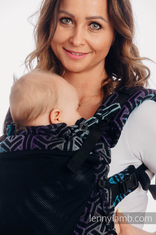 LennyUpGrade Mesh Carrier, Standard Size, jacquard weave (75% cotton, 25% polyester) - TRINITY COSMOS #babywearing