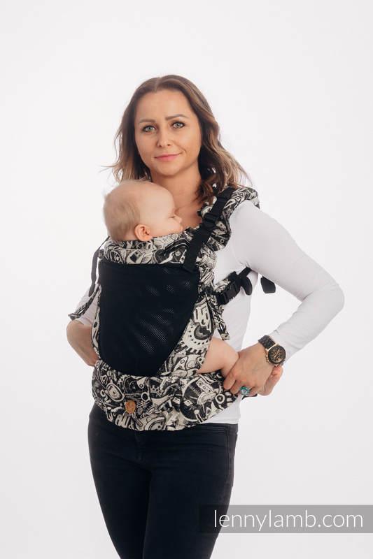 LennyUpGrade Mesh Carrier, Standard Size, jacquard weave (75% cotton, 25% polyester) - CLOCKWORK #babywearing