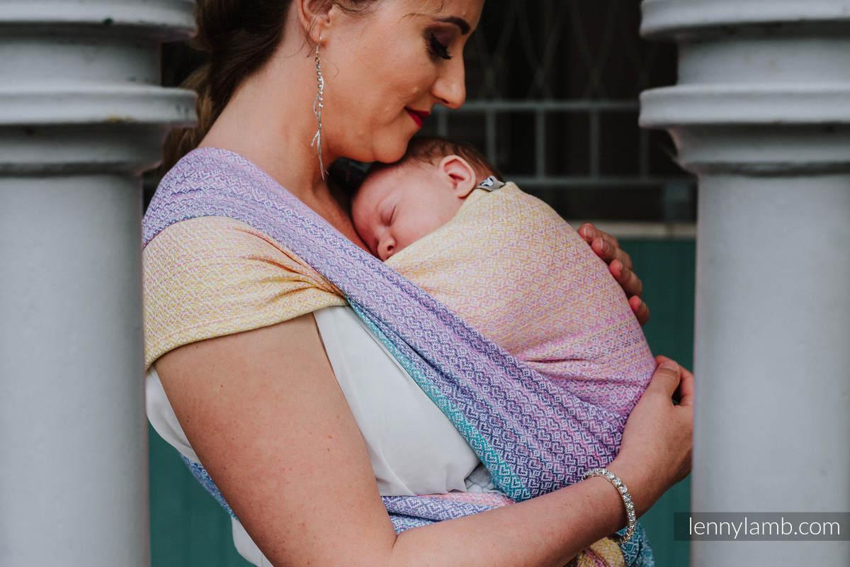 Tragetuch, Jacquardwebung (20% Bambus, 80% Baumwolle) - LITTLELOVE - CANDYLAND - Größe XL #babywearing