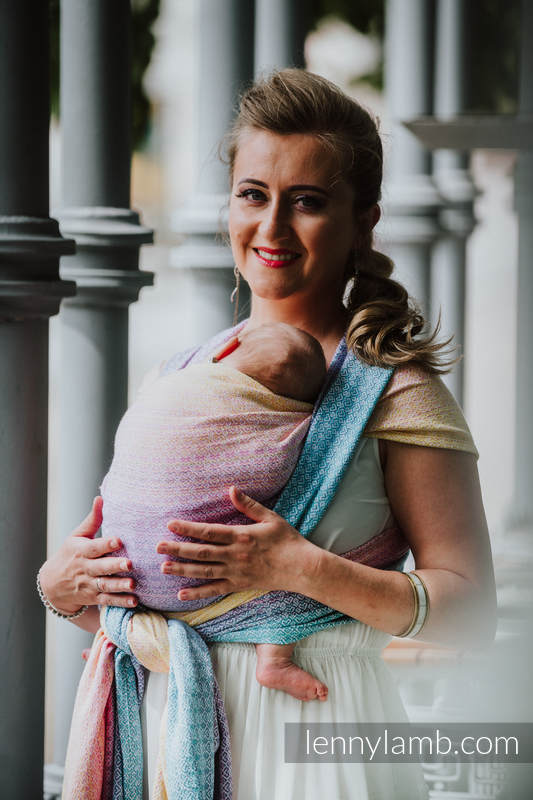 Żakardowa chusta do noszenia dzieci, 80% bawełna, 20% bambus - LITTLELOVE - KRAINA SŁODYCZY - rozmiar M (drugi gatunek) #babywearing