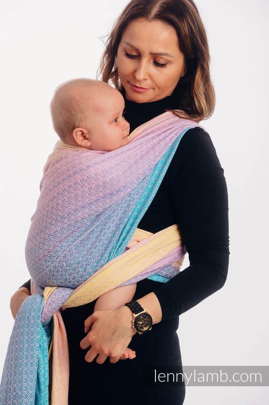 Baby Wrap, Jacquard Weave (80% cotton, 20% bamboo) - LITTLELOVE - CANDYLAND - size L (grade B) #babywearing