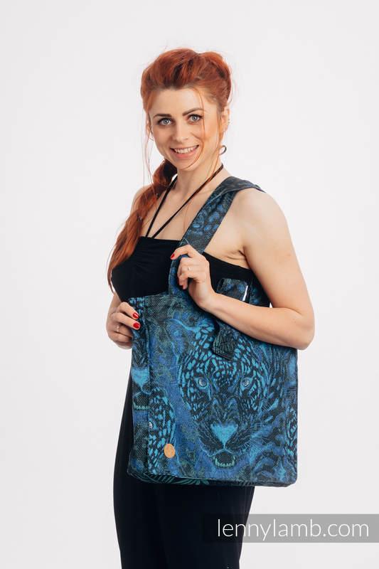 Shoulder bag made of wrap fabric (100% cotton) - JAGUAR - standard size 37cmx37cm #babywearing