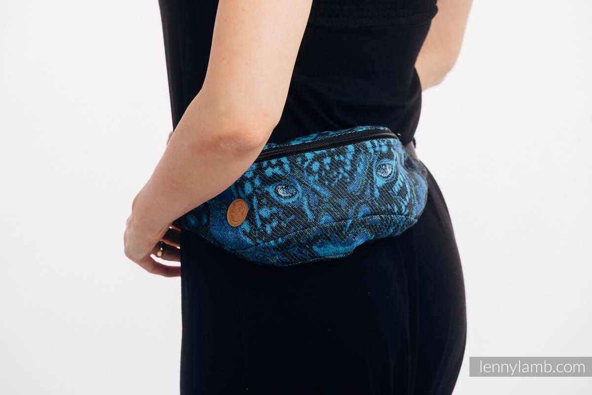 Riñonera hecha de tejido de fular (100% algodón) - JAGUAR  #babywearing