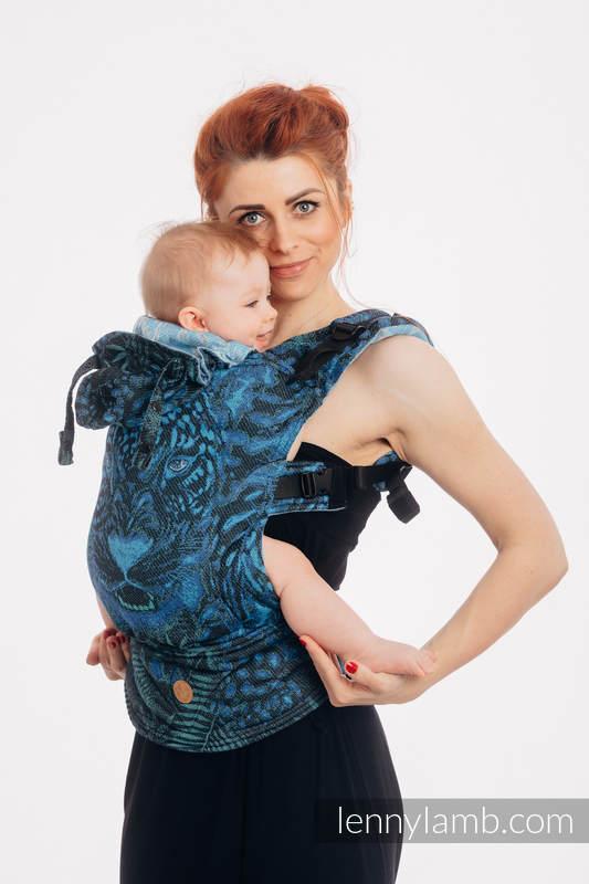 LennyGo Mochila ergonómica, talla bebé, jacquard 100% algodón - JAGUAR  #babywearing