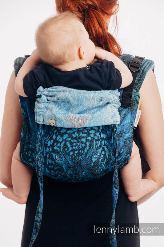 Lenny Buckle Onbuhimo baby carrier, standard size, jacquard weave (100% cotton) - JAGUAR #babywearing