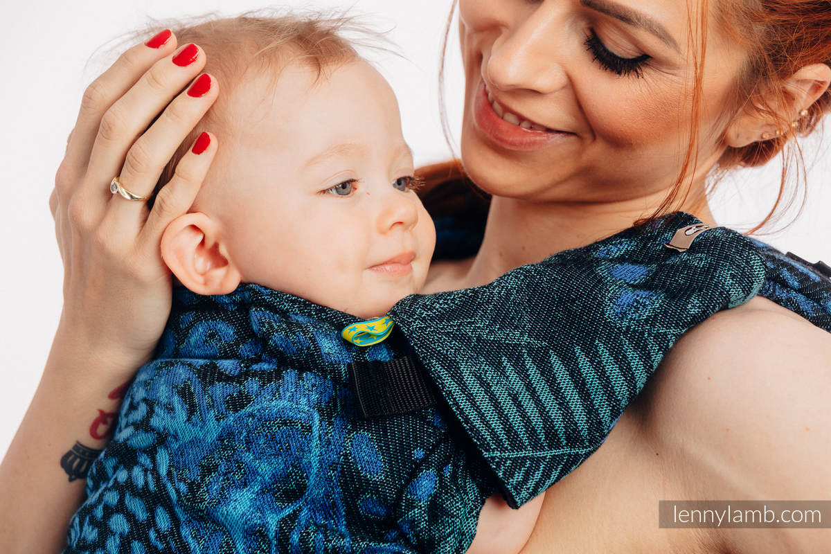 Set de protege tirantes y tiras de alcance (60% algodón, 40% Poliéster) - JAGUAR  #babywearing