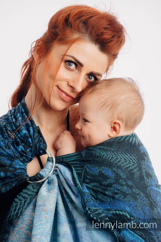 Żakardowa chusta kółkowa do noszenia dzieci, (100% bawełna), ramię bez zakładek - JAGUAR - long 2.1m #babywearing