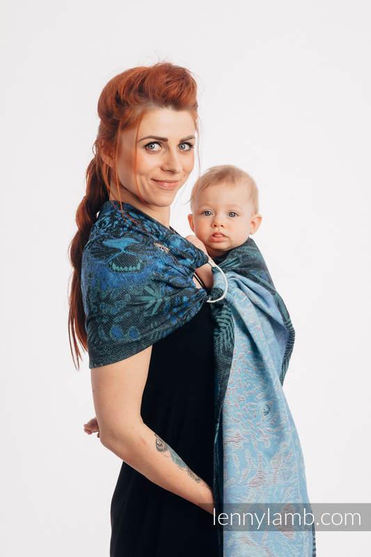 Bandolera de anillas, tejido Jacquard (100% algodón) - JAGUAR - long 2.1m #babywearing