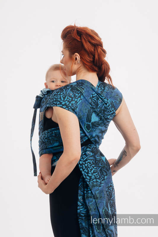 WRAP-TAI portabebé Mini con capucha/ jacquard sarga/100% algodón/ JAGUAR  #babywearing