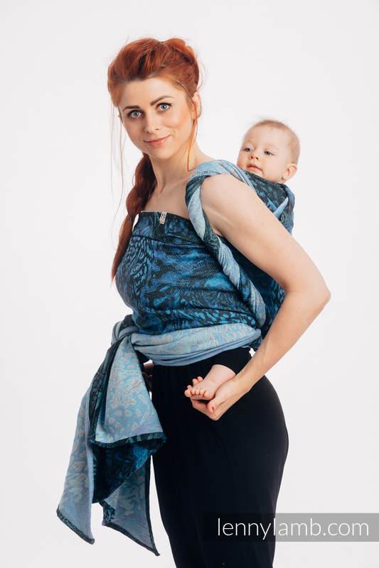 Baby Wrap, Jacquard Weave (100% cotton) - JAGUAR - size M #babywearing
