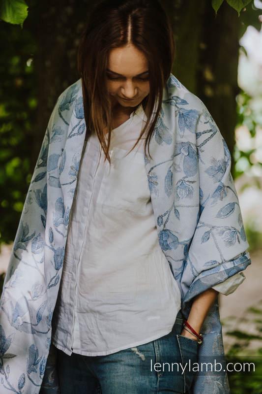 Szal z tkaniny chustowej (100% bawełna) - Magnolia Blue Opal #babywearing