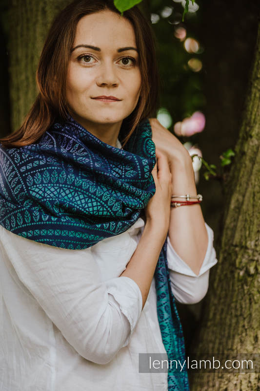 Shawl made of wrap fabric (100% cotton) - PEACOCK'S TAIL - PROVANCE #babywearing
