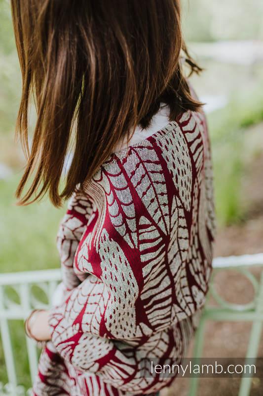 Chal confeccionado con tejido de fular (69% algodón, 31% seda) - SKETCHES OF NATURE #babywearing